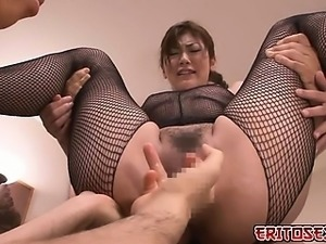 Japanese mom and two young studs had a hot threesome