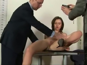 Katya Office sex obedience of a test secretary.