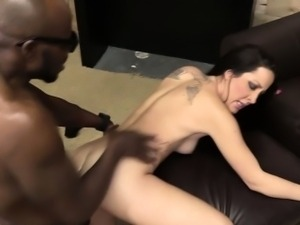 Interracial pussy pounded