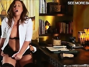Lovely secretary Maddy Oreilly pussy fucking with her boss