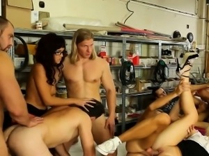 Bi orgy dude guzzles cum