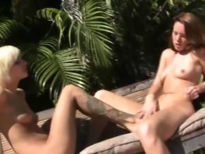 Foot fetish lesbians rub