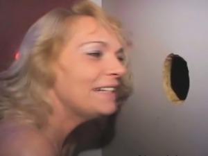 Blonde Amateur Sucking Strangers Off Through Glory Hole