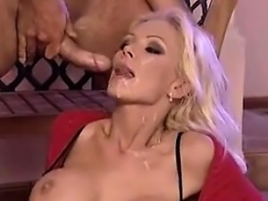 Blonde German MILF Double Penetration