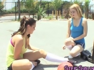 Teen eats out step sis