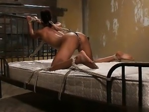 Busty cowgirl hard anal pounding