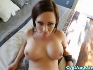 Glamour amateur slut riding dick