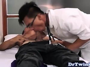 Asian twink doctors bj and anal exam