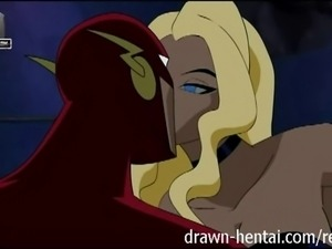 Justice League Hentai - Fucked in a Flash