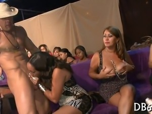 Exclusive strippers encounter