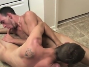 Nude men I\'m in the kitchen with Lucky and Caiden. Lucky is