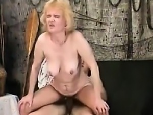 Horny Granny Needs To Have Young Cock