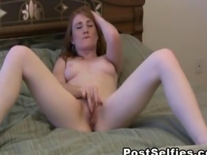 Very Horny Ex Girlfriend Caught Masturbating Pussy on Bed