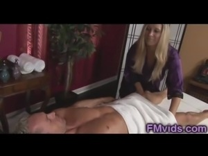 Blonde Milf Devon Lee fucked after massage