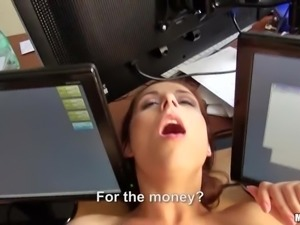 bitch in the office gets dirty