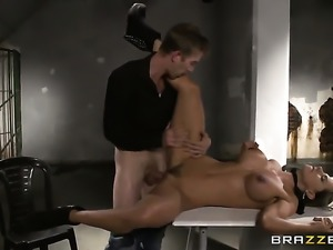 Latin Esperanza Gomez with big tits getting mouth fucked by Danny Ds...