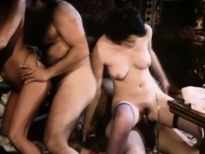 Tracy Adams rides Ron Jeremy big cock in a fourway