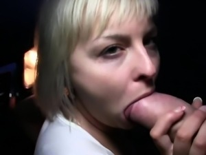 Adorable chick receives specie for her wet pussy service