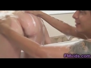 Hot bath with redhead beauty Marie McCray