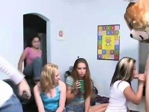College chicks are dick dependent party animals