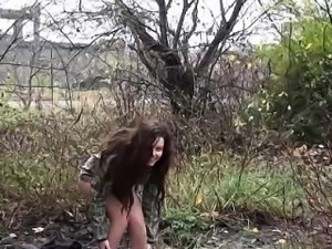 Cuties flashing their pissing twats in public