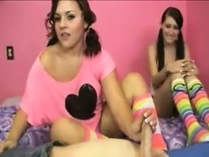 BFF Teens Decide To Milk Off One\'s Stepbrother