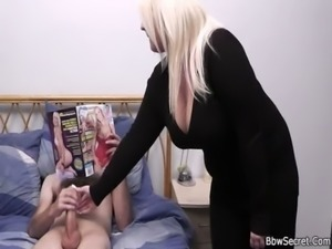 She finds him cheating with blonde fatty free