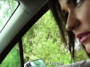 Teen Niki is having sex on the roadside with a stranger guy