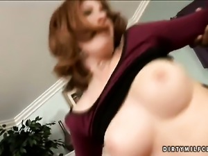 Mature slut Ginger Blaze with massive melons cant live a day without playing...