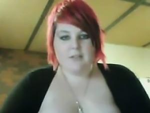 Large Redhead Masturbates