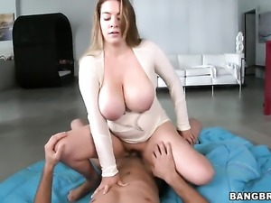 Blonde Kali West with bubbly booty enjoys hard fucking too much to stop