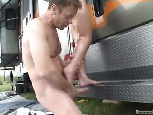 Mike Angelo plays with sexy anal hole of Amy A after he bangs her hard