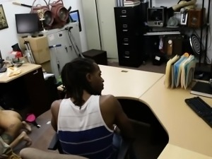 Couple sells TV and the GF gets pounded by nasty pawn guy