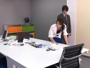 Subtitles - Beautiful Maki Hojo fucked hard in office