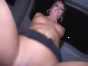 brunette car sex