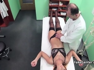 Black stocking patient fucks doctor