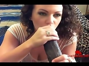 Interracial Big Black Cock Blowjob