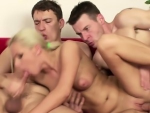 Real Casting for Blonde Czech Teen With two Big Dick Agent