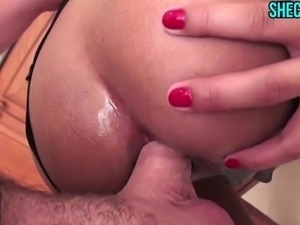 Anal Creampie In The Kitchen