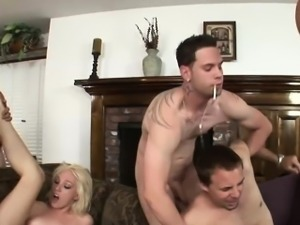 Couple in bisexual orgy