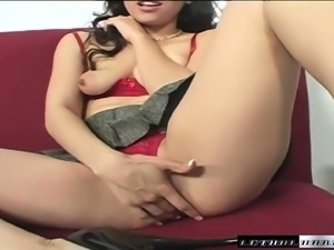 Hot Leilani works her slit on every inch of Sledge Hammer's black dick