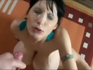 Super huge cum facial