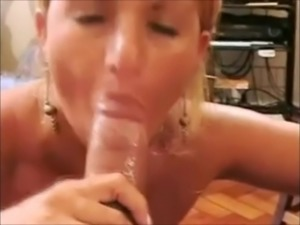 Brazilian Facials - Milf Blonde takes a Big cumshot