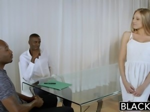 BLACKED Blonde Personal Assistant Shawna Lenee Loves Black Men