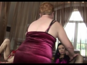 Granny, milf and young girl have fun