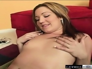Horny blonde Britni Blvd takes a thick shaft deep in her mouth and pussy