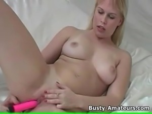 Busty Lacie on jerkoff compilation