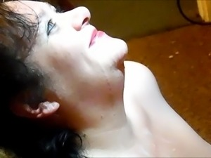 Real HomeMade .. Cum Slut Wife Facials III