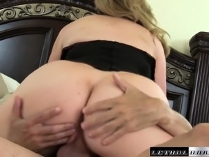 Bodacious blonde beauty gets banged deep by Mike Hunt all over the bed