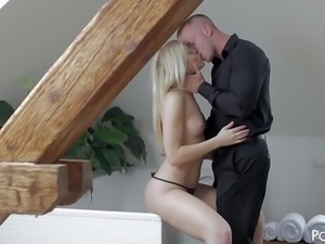 Leggy Czech Blonde Fucking